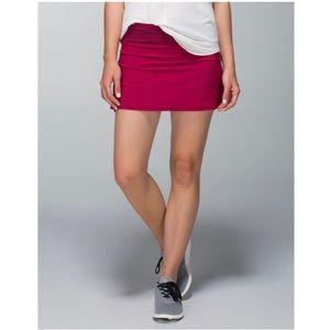 Lululemon  Run Pace Setter Ruffle Pink Skort Skirt